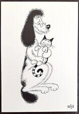 DUBOUT les chiens et chats carte postale (D26) état neuf