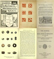63 OLD JOURNAL OF THE ROYAL SOCIETY OF ANTIQUARIES OF IRELAND (1892-1959) ON DVD