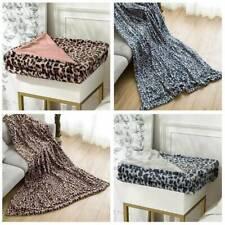 Fleece Blanket Reversible Thicken Plush Flannel Soft Warm Blanket BB