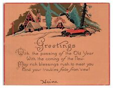 New Year Greetings, Arts & Crafts Card Eph3