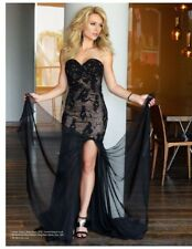 BNWT Forever Unique Alexa Embellished Lace Applique Mesh Maxi Dress UK10 RP £410