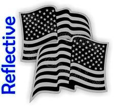REFLECTIVE Black Ops American Flag Hard Hat Stickers Decals Helmet Motorcycle