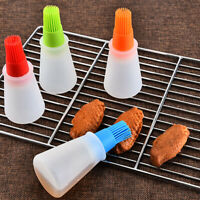 Oil Bottle with Brush Grill Liquid Oil Pastry Kitchen Baking BBQ Kitchen Tool