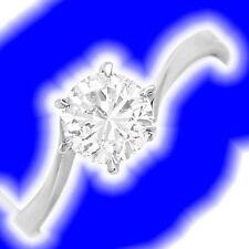 Markenlose solitäre Ringe aus Weißgold mit Diamanten