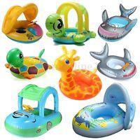 Kinder Babyboot Sonnenschutz Schwimmring Schwimmsitz Schwimmhilfe Schwimmreifen