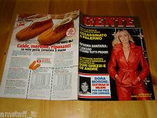 GENTE=1980/3=GLORIA GUIDA=BRITT EKLAND=FABRIZIO DE ANDRE=GHEZZI=GIUSEPPE GRIECO=