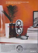 Sony Pascal Speakers 2000 Magazine Advert #3146