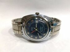 Vintage Timex Electric Dynabeat Time Zone (GMT)Watch Working Condition runs slow