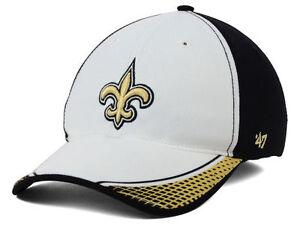 New Orleans Saints 47 Brand Closer Stretch fit NFL flexfit hat size L/XL