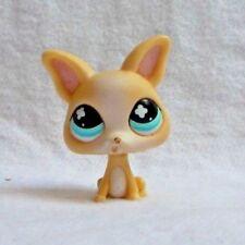 LITTLEST PETSHOP LPS #837 HASBRO DOG CHIEN CHIHUAHUA BEIGE BLANC YEUX BLEU CROIX