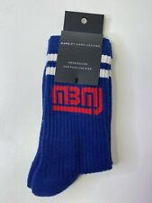 NWT Marc by Marc Jacobs Men's Athletic Logo Crew Socks One Size Blue Red