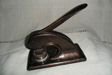 ANTIQUE CAST IRON PRESS SEAL EMBOSSED WITH GILT DECORATION ARDEN PRESS LIMITED