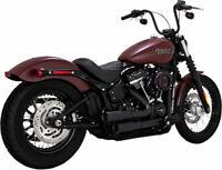 Vance & Hines Black Mini Grenades Exhaust Header Pipes Harley Softail 2018-2020