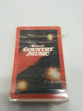 VINTAGE 1982 THE BEST OF COUNTRY MUSIC PLAYING CARDS WITH 54 PHOTOS SEALED NOS