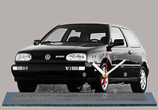 MODEL CARS, VOLKSWAGEN GOLF 3 VR6 -06,11,8x 7,8 inches with Clock