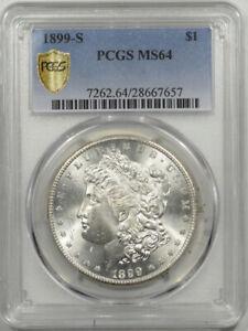 1899-S MORGAN DOLLAR - PCGS MS-64 BLAZING WHITE & PREMIUM QUALITY!
