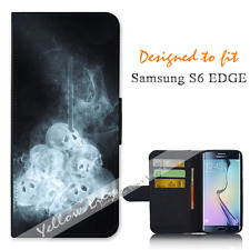 Samsung Galaxy S6 EDGE Wallet Flip Phone Case Cover Skull Dream Y00774