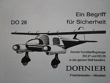 5/61 PUB DORNIER DO 27 DO 28 STOL KURZSTART FLUGZEUG AIRCRAFT ORIGINAL GERMAN AD