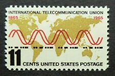 1274 MNH 1965 11c International Telecommunication ITI governs radio code waves