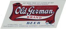 Old German Brand Beer Label
