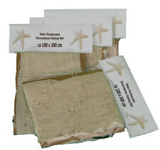 Deko Fischernetz beige/natur Größe ca. 100x200cm - Fischernetz Dekoration (1186)