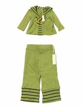 New Toddler Girl Luna Luna Copenhagen Buccaneer Green Top Pants Set Size 18/24 M