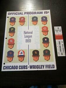 "1969 New York ""Amazing"" Mets 100th WIN Chi Cubs FULL Ticket & Program Nolan Ryan"
