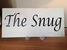Shabby Chic The Snug vintage style plaque vintage sign boutique gift Home
