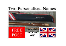 Personalised Snooker Pool Cue Case  Names Sticker Decals X2 X 20MM high