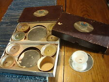 *2* Sets Vintage REFLECTO PLACE-LITE By Fiske, Candle Holders on Mirrors