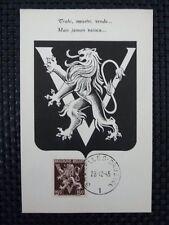 BELGIEN MK 1944 WAPPENLÖWE VICTORY MAXIMUMKARTE CARTE MAXIMUM CARD MC CM a6670