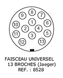 FAISCEAU ELECTRIQUE STANDARD 13 BROCHES