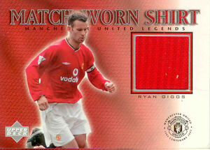2002 UD Manchester United Legend Trading Card Jersey Card Ryan Giggs
