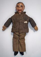 Vintage Ventriloquist Doll Puppet, Charlie McCarthy ?1930's 1940's ?Coat stamped