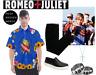Men's Romeo and Juliet Sacred Heart Button Up Short Sleeve Shirt