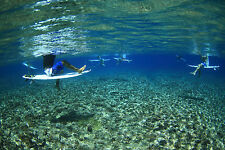 "Surfers Waiting at Teahupo'o 12x18"" Photo"
