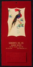 Original 1962 Good Luck Mystery Bird Calendar East Moriches NY