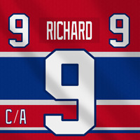 Maurice Rocket Richard NHL Montreal Canadiens Adidas Jersey Pro Lettering Kit