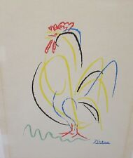 PICASSO ROOSTER LARGE VINTAGE COLOR SILKSCREEN
