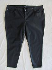 Eileen Fisher Skinny Jeans-Organic Cotton Waxed Stretch-Black-Size 24W -NWT $198