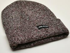 Hollister Guys Logo Knit Beanie Hat Men's Burgundy New!