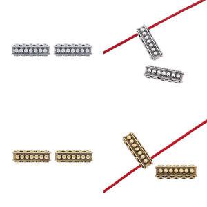 20 x Silver/Gold 5 Strands Spacer Bar Multi Strand Connectors Separators Bars