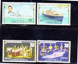 ANGUILLA #271-274  1977  QEII  25TH ANNIV.  MINT  VF NH  O.G
