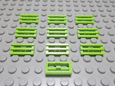 Lego 10 Gitter Fliesen 1x2 lime hellgrün 2412b Set 4589 8356 7163 4596 8864 8899