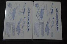 2  LAMINATING POUCHES FOR  BUSINESS CARD ID CARD SS Card SIZE (2 5/8 X 3 7/8)