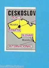 FOOTBALL CLUBS-PANINI 1975-Figurina n.51- CARTINA  CECOSLOVACCHIA  1/2 -Rec