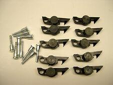 Ten American Flyer Black Weight Link Couplers w/ Pins
