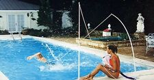 Professional Aquatic Fitness Trainer Swim Endlessly In Place Tethered Swimming