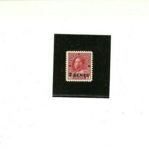 """CANADA STAMP # 139  MNH F-VF   """"2c on 3c - King George V""""  1926 issue"""