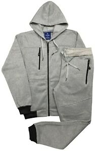Men's Warm Fleece Jogger 2-Piece Full Warm Sweatsuit Outfit Top and bottom Set